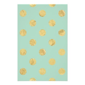 Elegant Gold Foil Polka Dot Pattern - Teal Gold Flyer