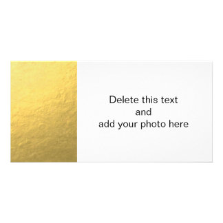 Elegant Gold Foil Printed Photo Greeting Card
