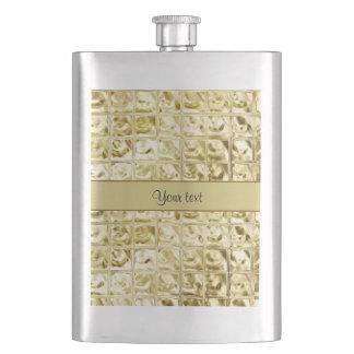 Elegant Gold Foil Squares Flasks