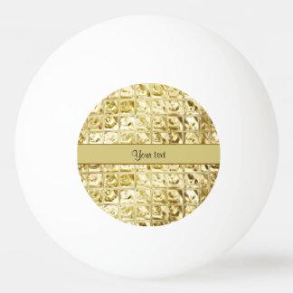 Elegant Gold Foil Squares Ping Pong Ball