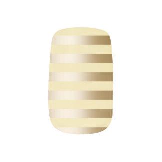 Elegant Gold Foil Stripes Vanilla Minx Nail Art