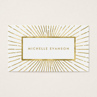 Elegant Gold Foil Sunburst Modern Professional Business Card