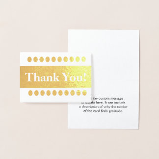 "Elegant Gold Foil ""Thank You!"" Card"