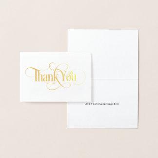 Elegant Gold Foil Thank You Card