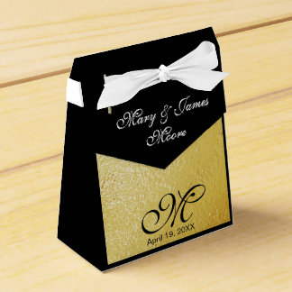 Elegant Gold Foil - Wedding Favor Box