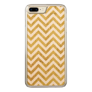 Elegant Gold Foil Zigzag Stripes Chevron Pattern Carved iPhone 8 Plus/7 Plus Case