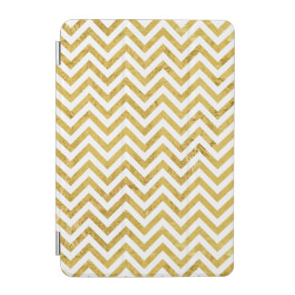 Elegant Gold Foil Zigzag Stripes Chevron Pattern iPad Mini Cover