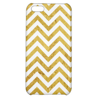 Elegant Gold Foil Zigzag Stripes Chevron Pattern iPhone 5C Case