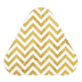 Elegant Gold Foil Zigzag Stripes Chevron Pattern Speaker