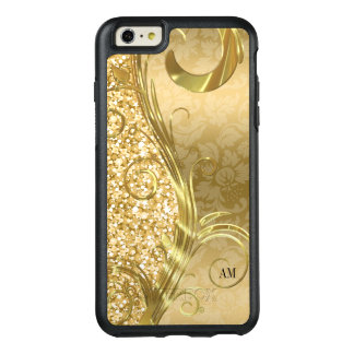 Elegant Gold Glitter And Damask OtterBox iPhone 6/6s Plus Case