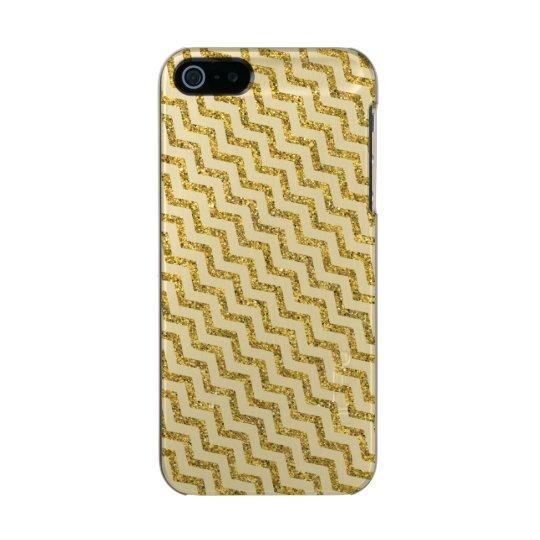 Elegant Gold Glitter Chevron Incipio Feather® Shine iPhone 5 Case