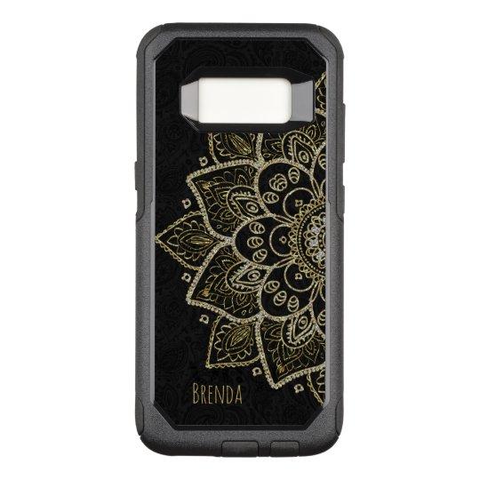 Elegant Gold Glitter Mandala & Monogram OtterBox Commuter Samsung Galaxy S8 Case