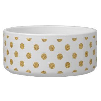 Elegant Gold Glitter Polka Dots Pattern