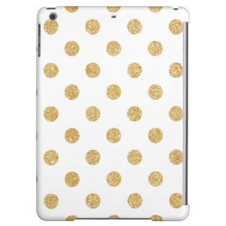 Elegant Gold Glitter Polka Dots Pattern Cover For iPad Air