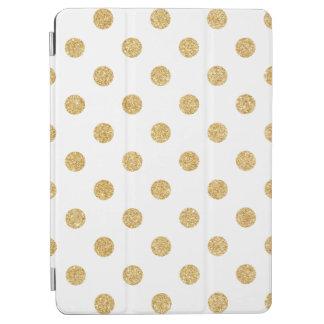 Elegant Gold Glitter Polka Dots Pattern iPad Air Cover