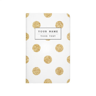 Elegant Gold Glitter Polka Dots Pattern Journals