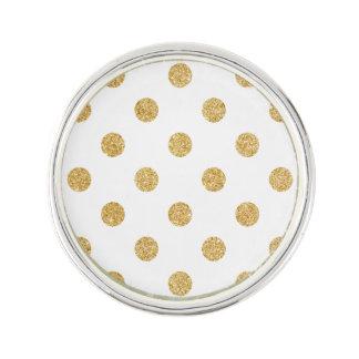Elegant Gold Glitter Polka Dots Pattern Lapel Pin