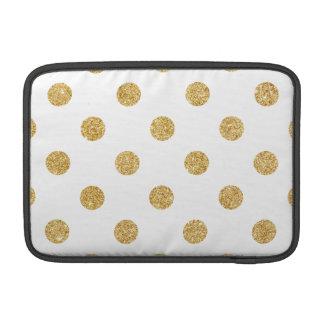 Elegant Gold Glitter Polka Dots Pattern MacBook Air Sleeves