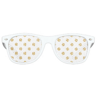 Elegant Gold Glitter Polka Dots Pattern Party Sunglasses