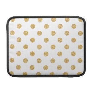 Elegant Gold Glitter Polka Dots Pattern Sleeve For MacBook Air