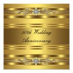 Elegant Gold Golden 50th Wedding Anniversary