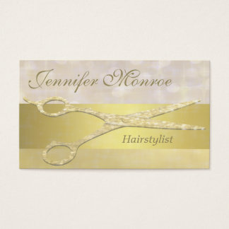 Elegant Gold Hairstylist Appointment Reminder Business Card