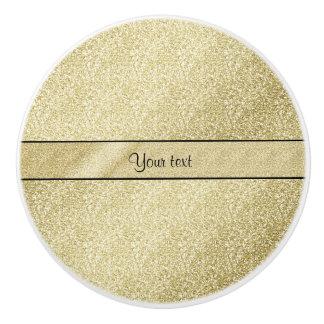 Elegant Gold Leaf Ceramic Knob