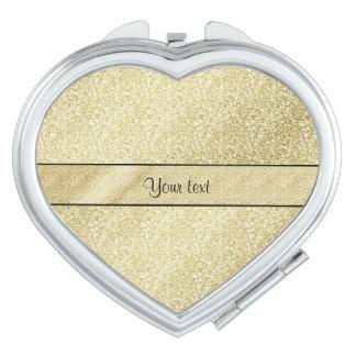 Elegant Gold Leaf Mirror For Makeup