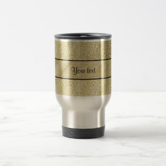 Elegant Gold Leaf Travel Mug