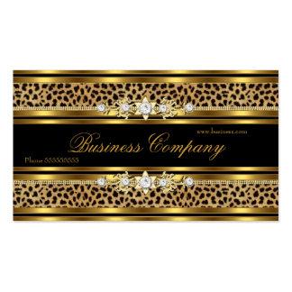 Elegant Gold Leopard Black ORNATE Best Business Card
