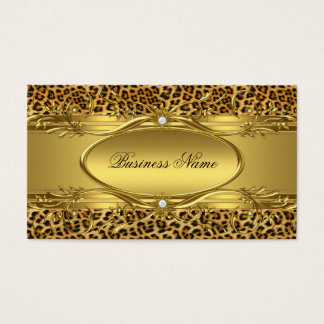 Elegant Gold Leopard print Business Card