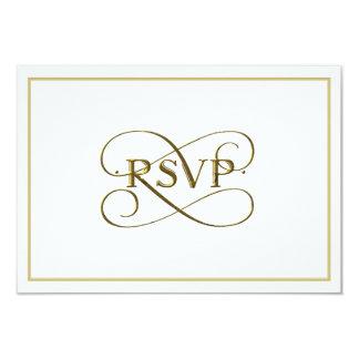 Elegant Gold Lettering RSVP Cards