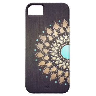 Elegant Gold Lotus Flower Wood Stylish Floral iPhone 5 Cover