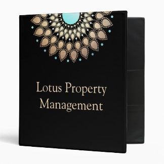Elegant Gold  Lotus Mandala Binders