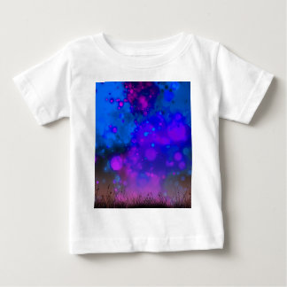 Elegant Gold Luxe Blue Purple Watercolor Baby T-Shirt