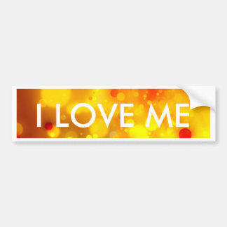 Elegant Gold Luxe Red and Yellow Watercolor Bumper Sticker