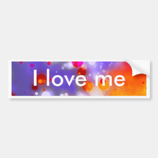 Elegant Gold Luxe Red Watercolor Brushstrokes Bumper Sticker