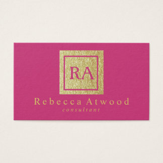Elegant Gold Monogram Business Cards Hot Pik