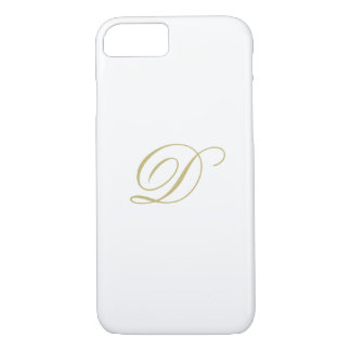 Elegant Gold Monogram Case-Mate iPhone Case