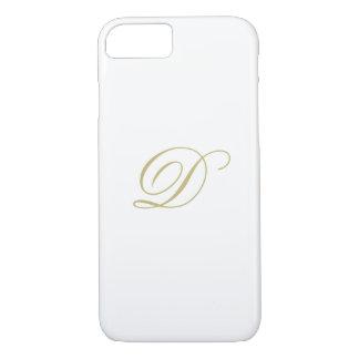 Elegant Gold Monogram iPhone 8/7 Case