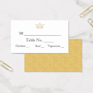 Elegant Gold Monogram Wedding Place Cards