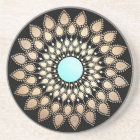 Elegant Gold Ornate Lotus Mandala Coaster