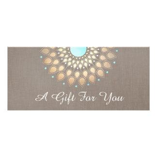Elegant Gold Ornate Lotus Mandala Gift Certificate Full Colour Rack Card