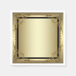 Elegant Gold Paper Napkin