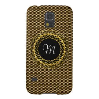 Elegant Gold Personalizable Monogram Galaxy S5 Covers