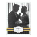 "Elegant Gold Photo 50th Wedding Anniversary Party 5"" X 7"" Invitation Card"