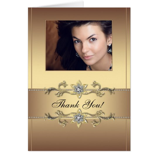Elegant Gold Photo Thank You Cards