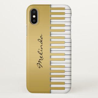 Elegant Gold Piano Keyboard Music iPhone X  Case
