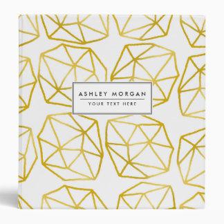 Elegant Gold Polygonal Unique Geometric Pattern Vinyl Binders