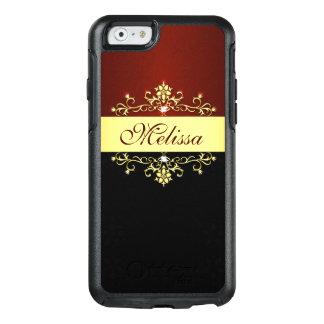 Elegant Gold Red Black OtterBox iPhone 6/6s Case